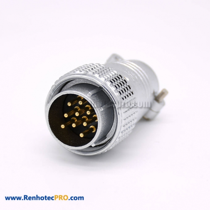 9 Pin Straight Connector P24 Male Plug for Cable