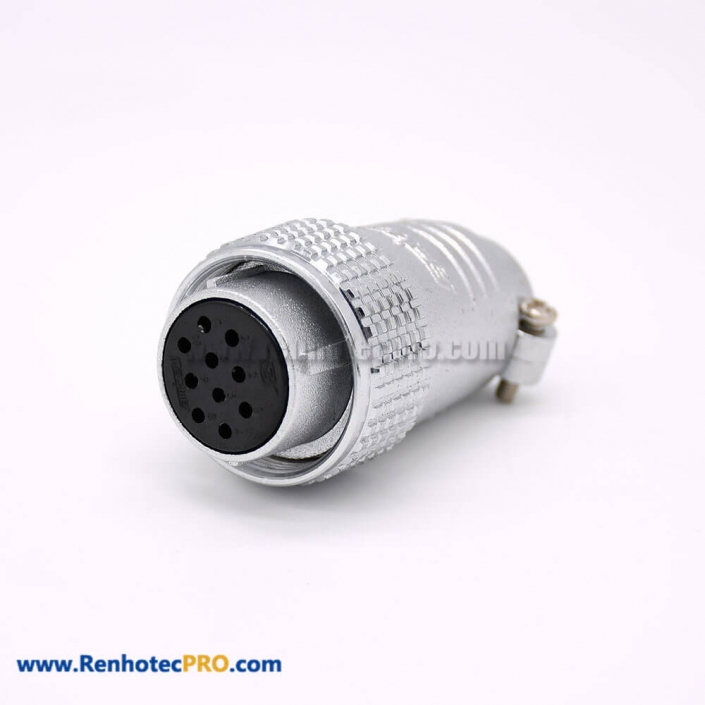 10 Pin Connectors P24 Female Plug Straight for Cable