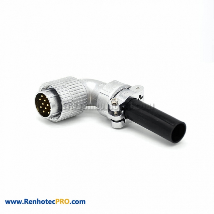 Angled Connectors P24 Male 12 Pin Plug for Cable
