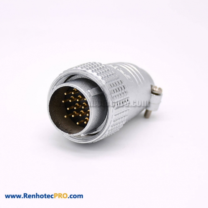 15 Pin Connector Type P24 Male Plug Straight for Cable