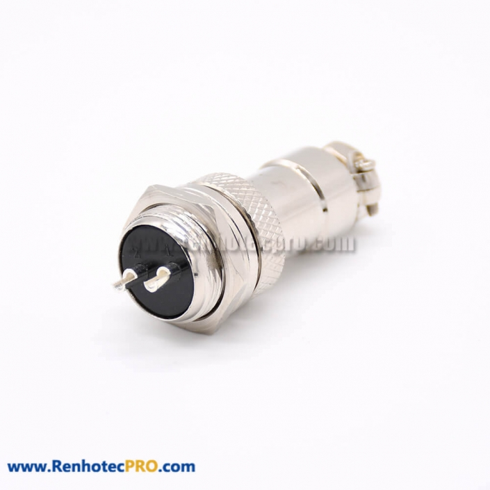 GX16 Connector 2 Pin Straight Standard Type Female Pulg to Male Socket Rear Bulkhead Solder Type For Cable