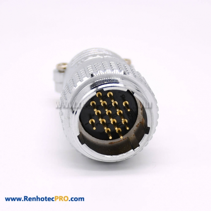 15 Pin Connector Round P24 Male Plug Straight Connector for Cable