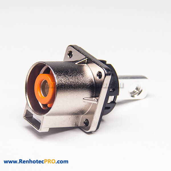 Connector For High Voltage Straight 1 Pin Meta 4 Hole Flange 200A Socket