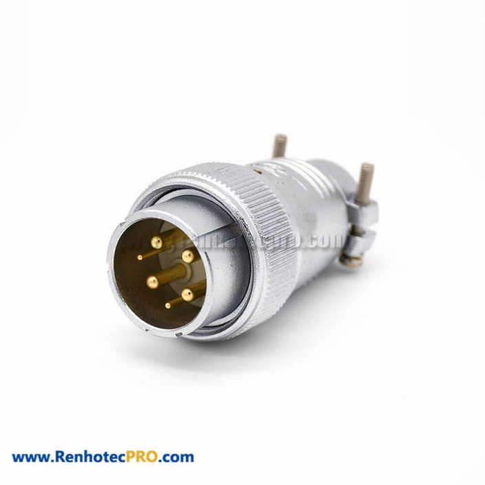 6 Pin Connector P32 Male Straight Plug for Cable