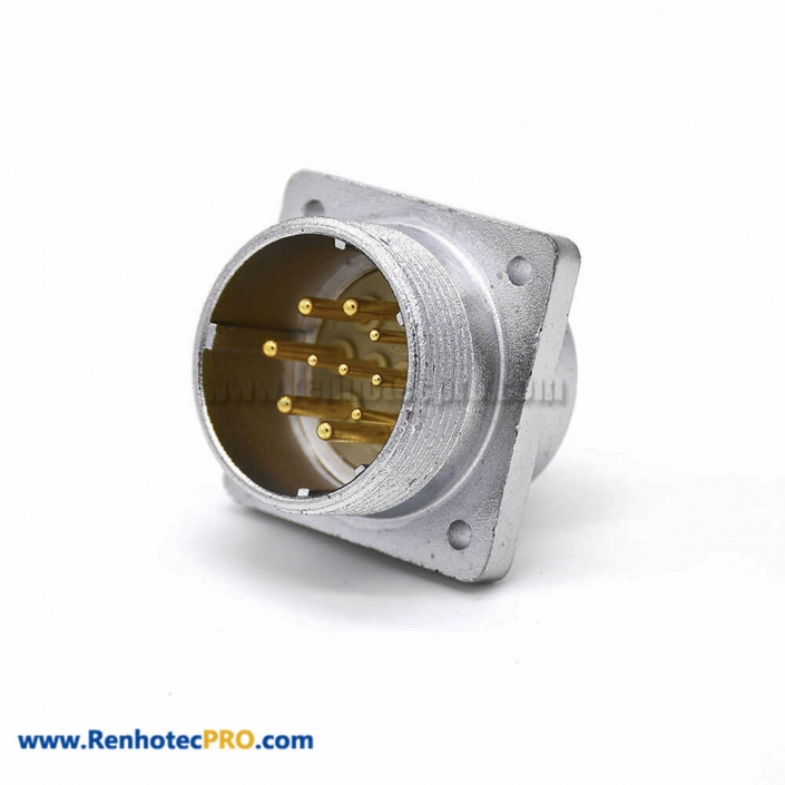 Male Socket Connector P32 Straight 10 Pin Squaure Fangle Receptacles