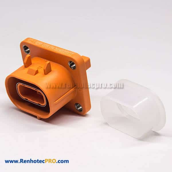 High Voltage Connection 2 Pin 180°150A Plastic Socket