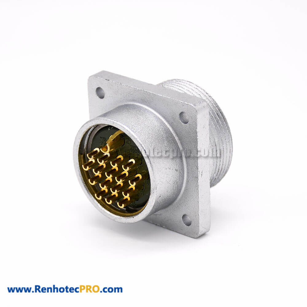 Male Receptacles P48 4 Hole Flange 17 Pin Connector
