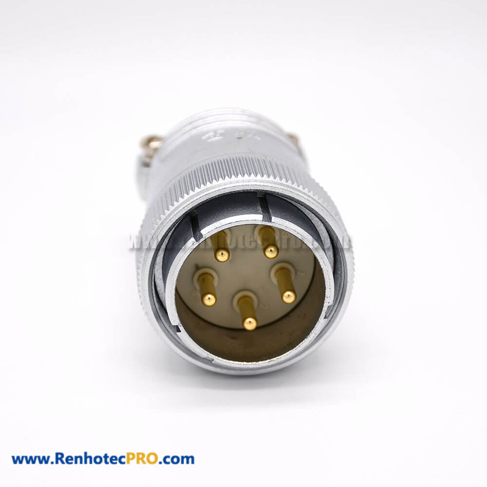 Male Plug P48 5 Pin Male Straight Plug for Cable