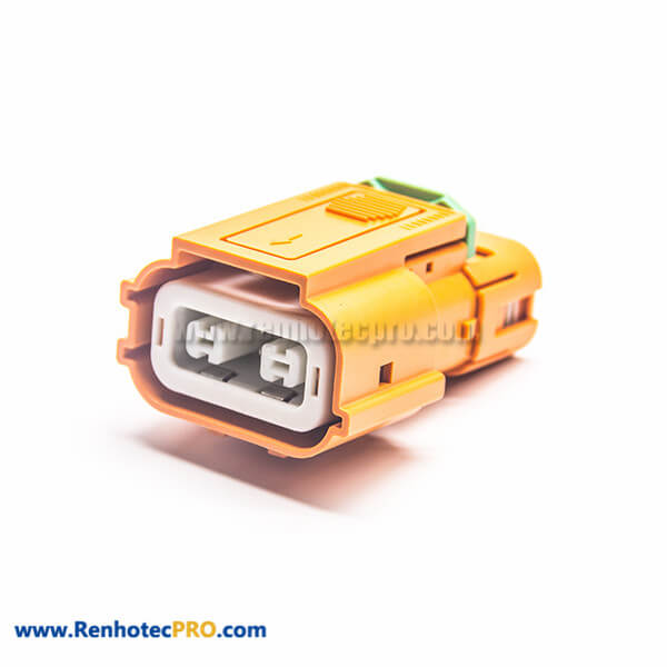 EV High Voltage Connector Plug 150A 2 Pin Plastic Straight