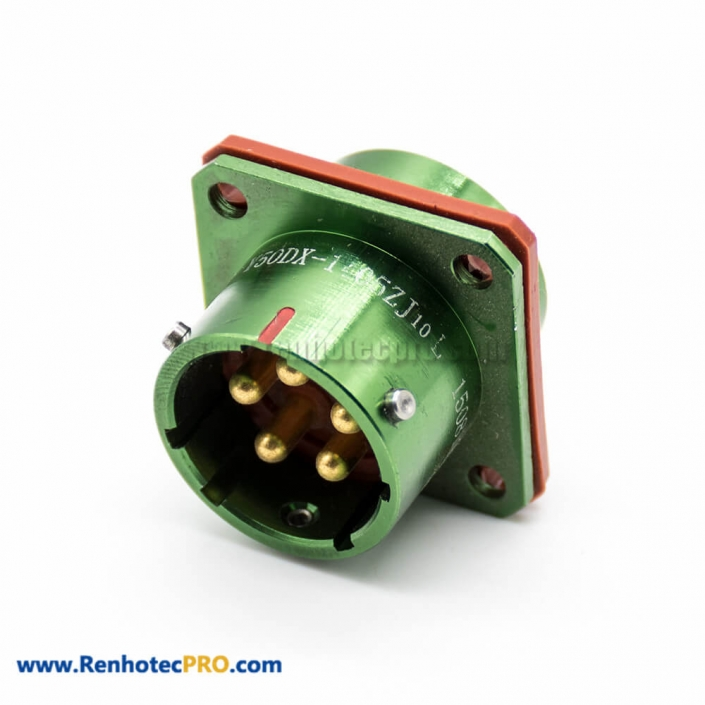 5 Pin Socket Y50DX Bayonet Coupling 14 Shell Size Male 180° panel mount Connector Solder Cup Aluminum Alloy