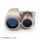 Male Female Connectors Y27F Plug&Socket 4Pin 18 Shell Size Panel Mount/cable Straight Bayonet Coupling Solder cup