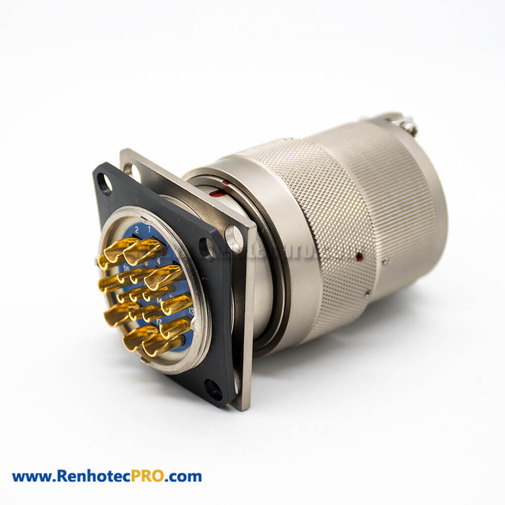 Male Female Connectors Electrical Plug&Socket Y27G 17Pin Admiralty Metal 180° Panel Mount Solder cup Bayonet Coupling