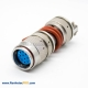10 Pin Connector Female Y27G Plug Straight Admiralty Metal Bayonet Coupling Solder cup