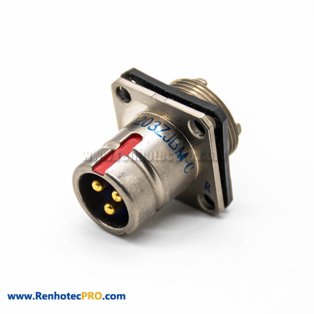 3 Pin Plug And Socket Y27G Female Butt-jiont Male 12 Shell Size Panel Mount Solder cup Admiralty Metal Connector