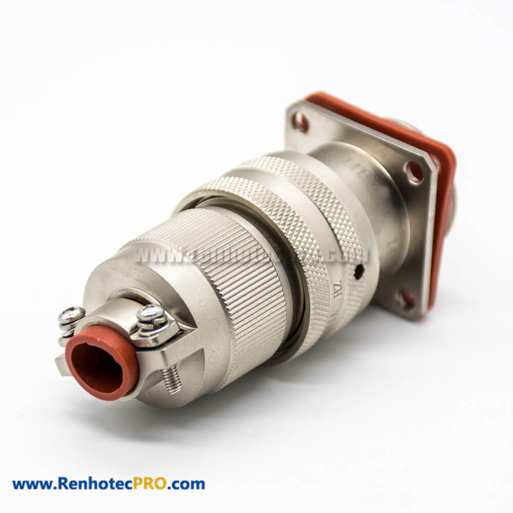 Y11P Plug&Socket 19Pin Panel Mount 14 Shell Size Aluminum alloy Straight Bayonet Coupling Female Butt-jiont Male Connector