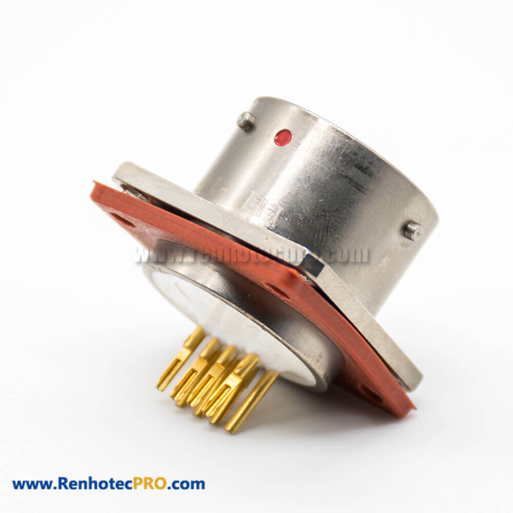 YW Electric Connector Male Butt-Joint Female Rj-45 Built-in Interface Type Straight Electroless Nickel Plating Bayonet Coupling