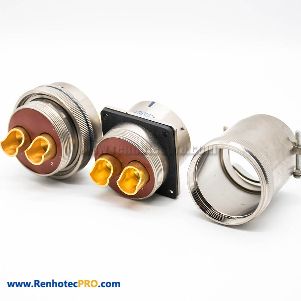 XCD 36 Shell 2Pin Bayonet Coupling Cable Plug Socket 4 Hole Flange Male Butt-Joint Female Solder Cup