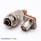 YGD 08 Shell 2Pin Cable Bayonet Coupling Socket Solder Cup 4 Hole Flange Plug Solder Straight Male Butt-Joint Female Aluminum Alloy
