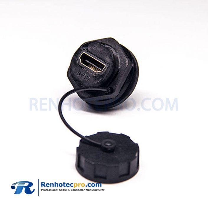 HDMIA Female 19 PinIP67 M25 LOCK PCB Mount socket Waterproof Connector