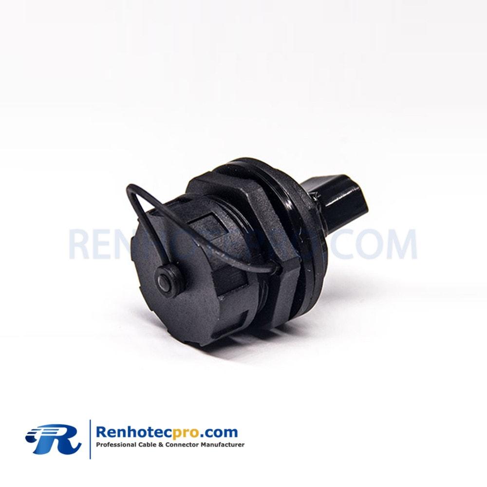 HDMI Female to Female 19pin M25 type A socket ip67 waterproof Panel LOCK adapter