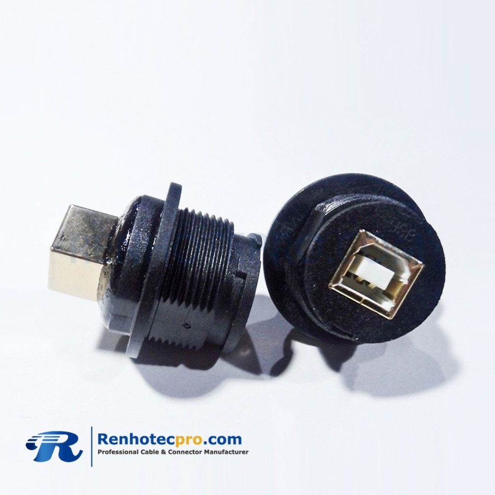 USB2.0 Type B Female to Female Waterproof USB Adapter