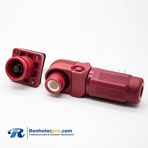 1 Pin Waterproof Connector Crimp Type Male Butt-Joint Female 12mm Red Plastic Battery Storage Connector