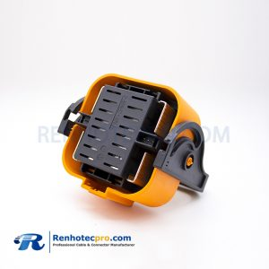 MSD Connectors 500A Waterproof IP67 2 Pin Orange Plastic Plug