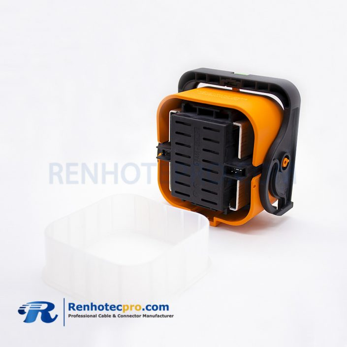 Battery Manual Service Disconnect 2 Pin 630A Orange Plastic Connector Waterproof Plug