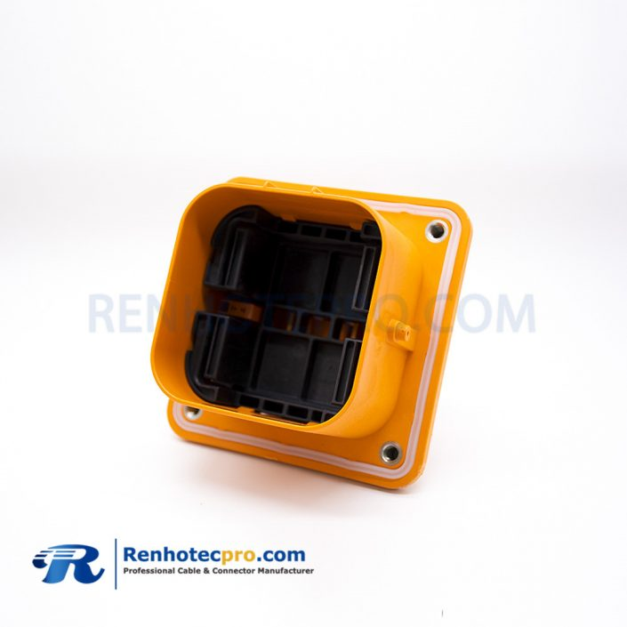 MSD Manual Service Disconnect 2 Pin 630A Orange Plastic Rear Mount Socket 630A Waterproof IP67