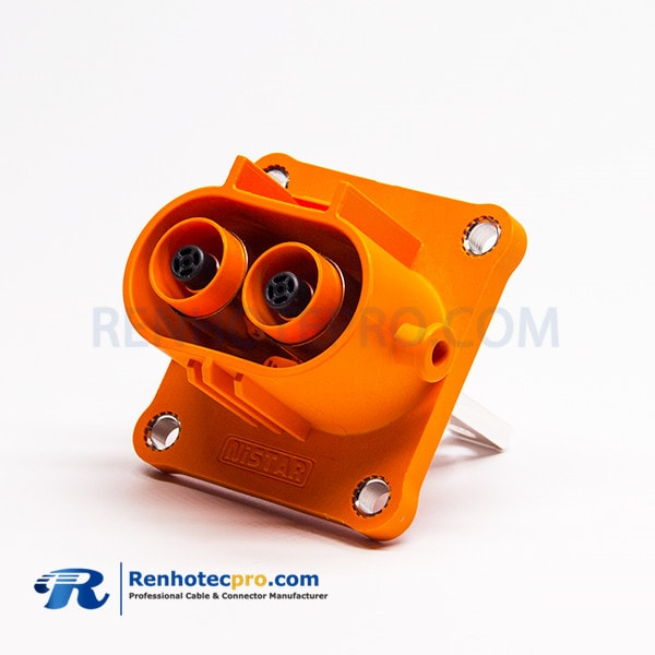 High Voltage Interlock Loop Connector 2 Pin Right Angle Plastic Plug 200A 8mm HVIL Series