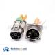 High Voltage Interlock Loop 125A Metal Shield 1 Pin Plug 6mm 25mm² Straight HVIL Series Connector
