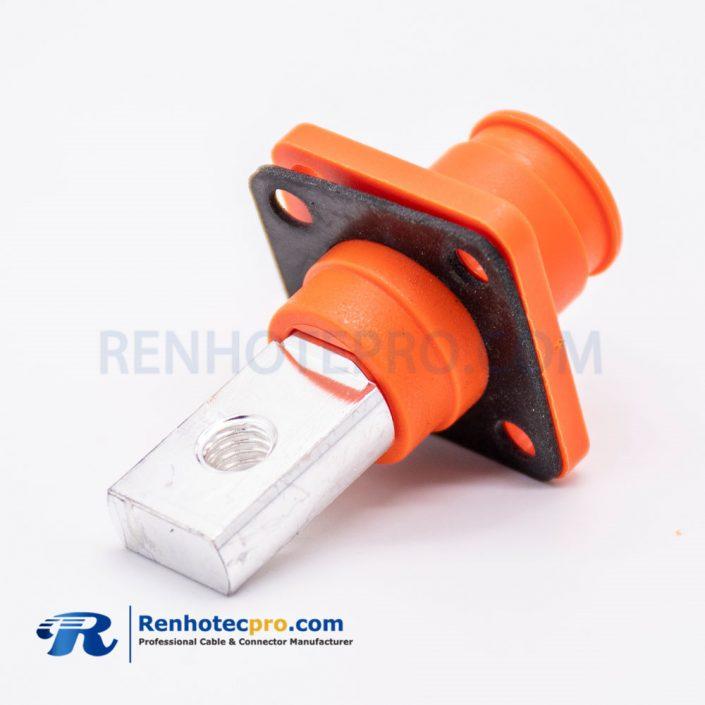 SurLok Plus Straight Female Orange Plastic Socket With Hole Battery Storage Connector