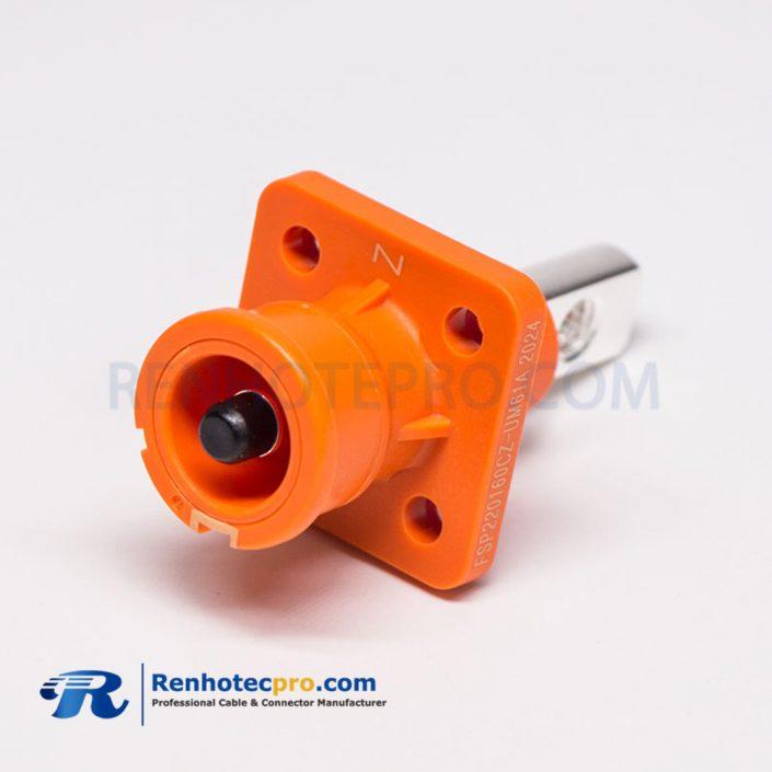 SurLok Plus Crimp Orange Straight Plastic Socket Waterproof Connector