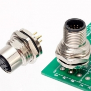 M12 PCB mount receptacle