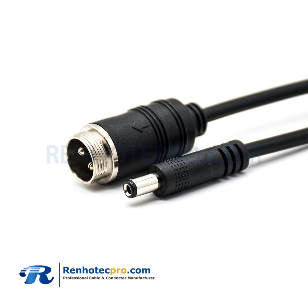 GX12 Cable,Double ended cable,2 Pin,DC Plug,Male to Male,Cable,Solder Type,16cm
