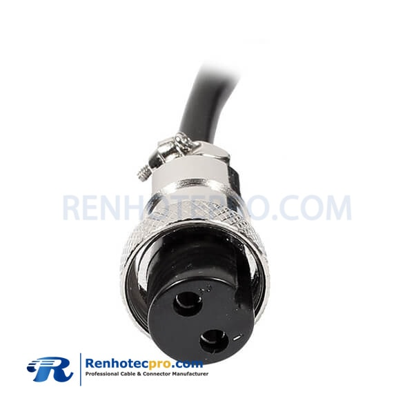 GX16 2Pin Single Cable Cordset Female Aviation Plug with Cable 1M