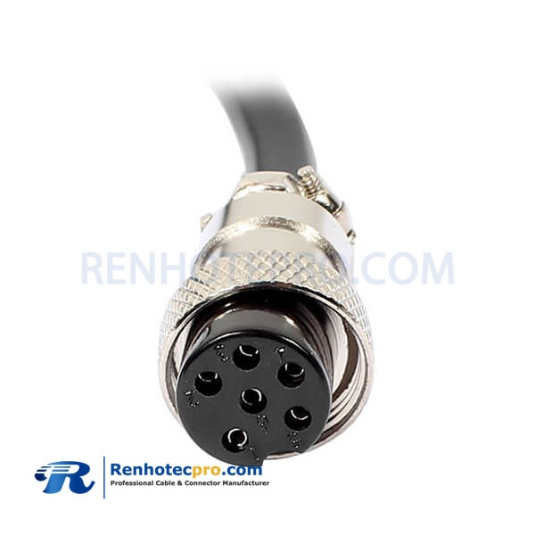 GX16 6 Pin Female Extension Cable Aviation Connector Cable 1M