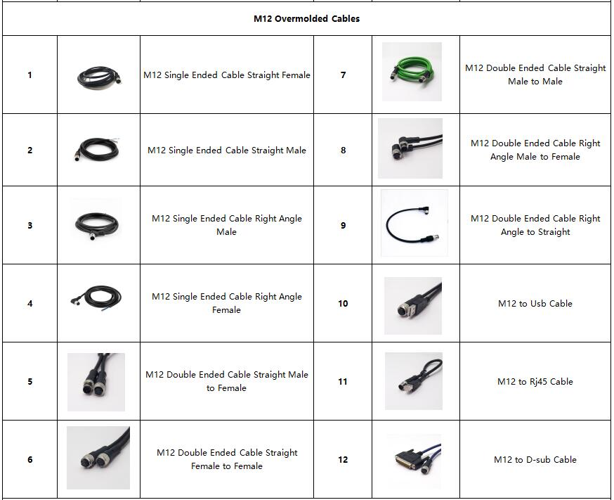 M12 Overmolded Cables