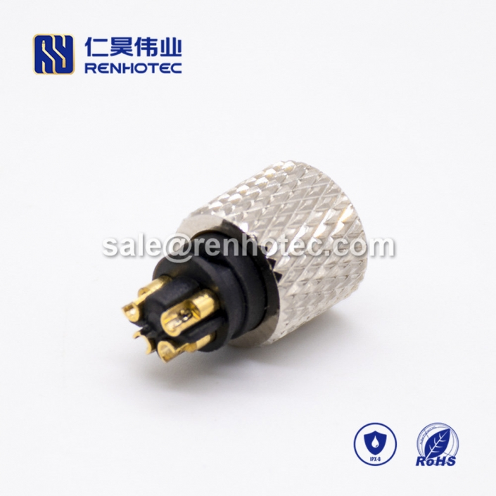 sensor Connector m8 lnjection Molding Female 4pin Straight Solder Cup Unshielded