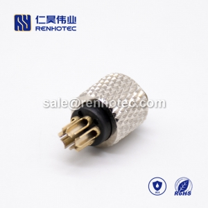 m8 circular Connector 5pin molding Female Straight Solder Cup Unshielded A code