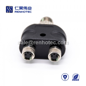M8 Adapter Waterproof M8 Splitter A Code 4pin to 3pin Male to Dual Female Y Type M8 to M12