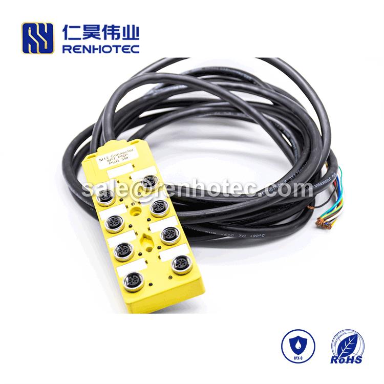 M12 Distributor,M12 Distribution Box,M12 Sensor Distribution Box